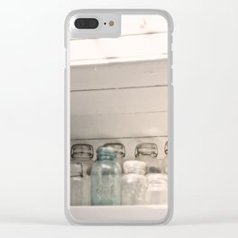 Vintage Jars in a White Kitchen Clear iPhone Case
