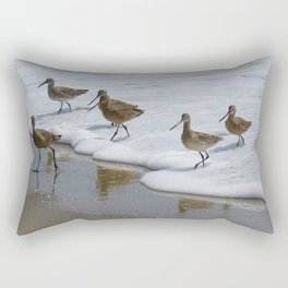 Sandpiper Convention at Malibu Colony Rectangular Pillow
