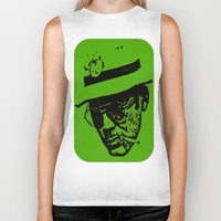 hunter s thompson Biker Tanks featuring Outlaws of Literature (Hunter S. Thompson) by Silvio Ledbetter