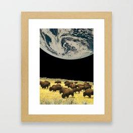 Moon farm Framed Art Print
