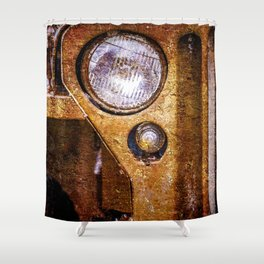Vintage Military Car Color Shower Curtain