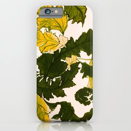Hello fall, mustard yellow iPhone Case