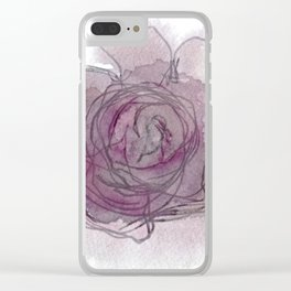Rose - Abstract Watercolour Clear iPhone Case