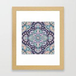 Bohemian Mandala Pattern Framed Art Print
