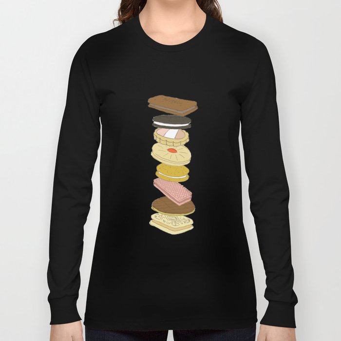 biscui - biscuit pattern Long Sleeve T-shirt