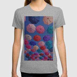 Colorful umbrellas T-shirt