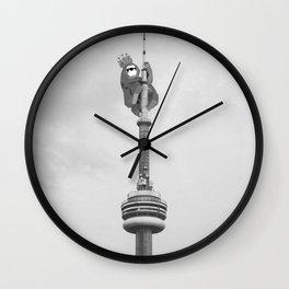 Sloth King - Geometric LowPoly style Wall Clock