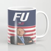 house of cards Mugs featuring House of Cards / Campaign Poster I by Earl of Grey