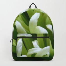 Green floral Backpack