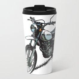 Honda XL250 Vintage Motorcycle Artwork Travel Mug