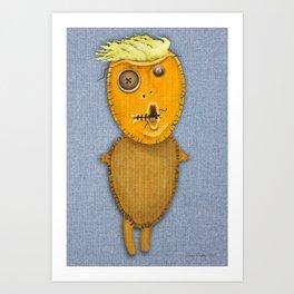 Orange Voodoo Doll Art Print