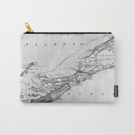 Vintage Map of Bermuda (1901) BW Carry-All Pouch