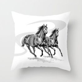 Master Hand (USA) Thoroughbred Stallion Throw Pillow