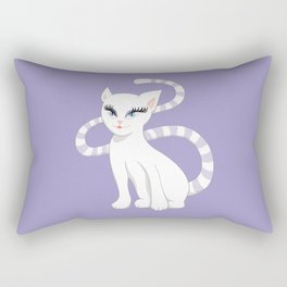 Pretty white cartoon kitty cat Rectangular Pillow