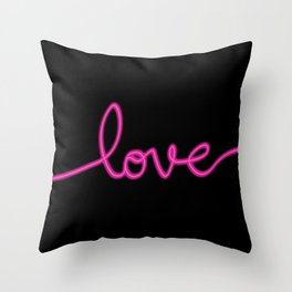 Neon Love Throw Pillow