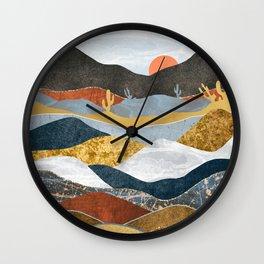 Desert Cold Wall Clock