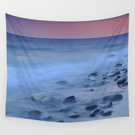 Blue stones at the sea Wall Tapestry