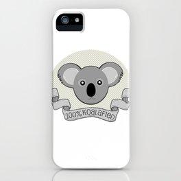 100% Koalafied iPhone Case