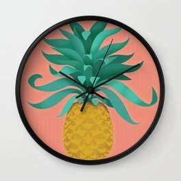 pineapple at the salon Wall Clock