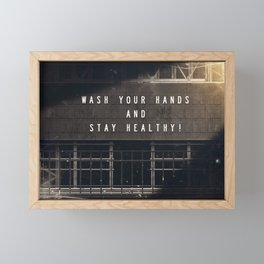 Stay Healthy! - Fight the Epidemic Framed Mini Art Print