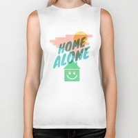 home alone Biker Tanks featuring Home Alone by Nick Nelson