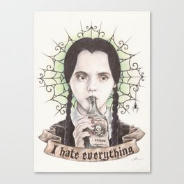 I Hate Everything Canvas Print