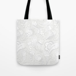 Ghostly Paisley: Dust to Dust Tote Bag