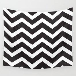 Black & White Chevron Wall Tapestry