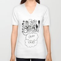 fault in our stars V-neck T-shirts featuring The fault in our stars by Madwolf