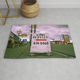 Kirby service sign Rug