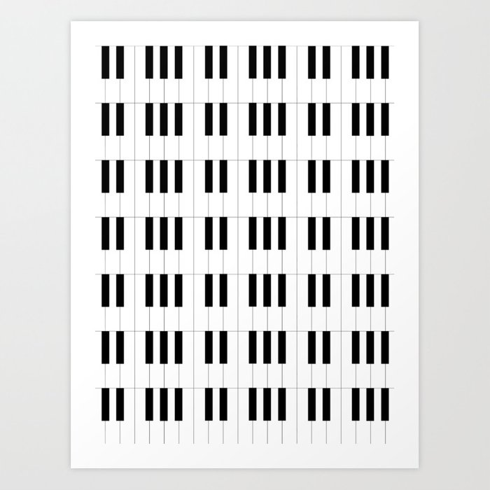 Piano Key Stripes Kunstdrucke