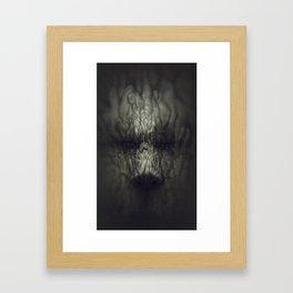 organic face Framed Art Print