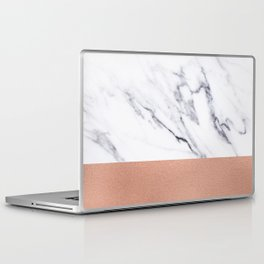 Marble Rose Gold Luxury iPhone Case and Throw Pillow Design Laptop & iPad Skin