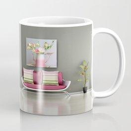Coffee, Tea or Flowers Vignette Coffee Mug