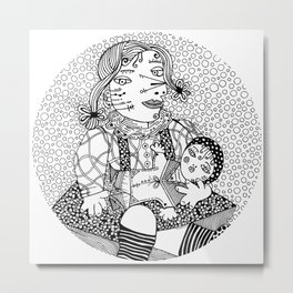 Picasso - Maya with doll Metal Print