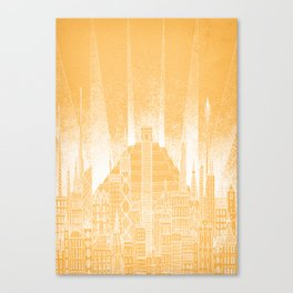 Sun Celestial City Canvas Print