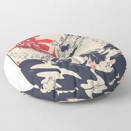 Sea dragon Floor Pillow