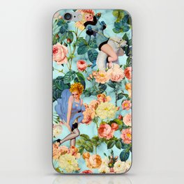 Floral and Pin Up Girls II Pattern iPhone Skin