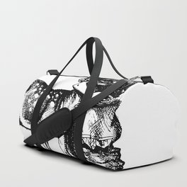 Alice and the Fawn in Black with Transparent Background Duffle Bag