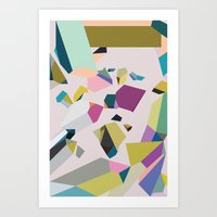 crystals Art Prints featuring Crystals by Leandro Pita