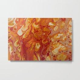 Japanese Magma Lava Marble Art Metal Print