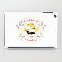 cowboy bebop iPad Cases featuring Cowboy by la belette rose