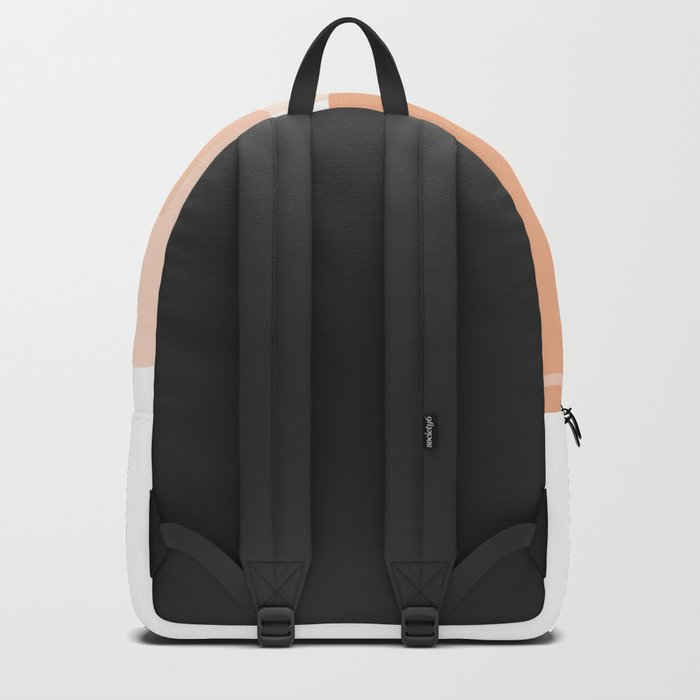 Minimal Abstract Modern Design Terracortta Orange Backpack