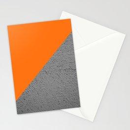 Cement vs Orange Diagonal Color-block Stationery Cards