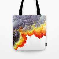 fifth element Tote Bags featuring Element by Andi_GreyScale