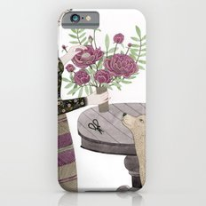 Girl, her Dog and bouquet of Flowers Slim Case iPhone 6s