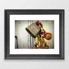 Padlocked (Macro) Framed Art Print