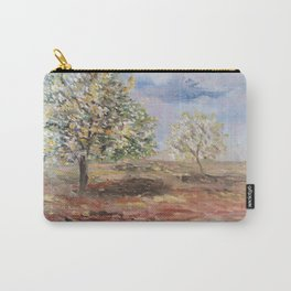 Trees, print of still-life original oil painting impressionist - Italian landscape Carry-All Pouch