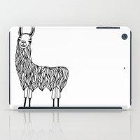 llama iPad Cases featuring Llama by Lizzie Scott