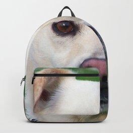 Blond dog portrait Backpack